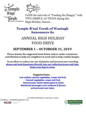 High Holiday food drive flyer 2019 4 VOICE_1