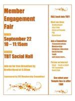 Member Engagement Fair 9-22-19