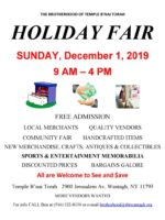 Winter Holiday Fair 2019 customer flyer - revised 10-24-19