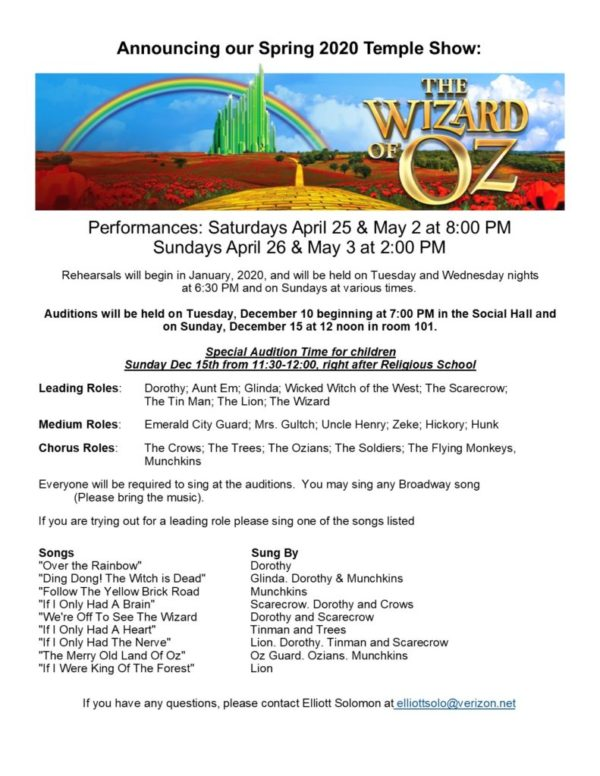 Wizard audition flyer