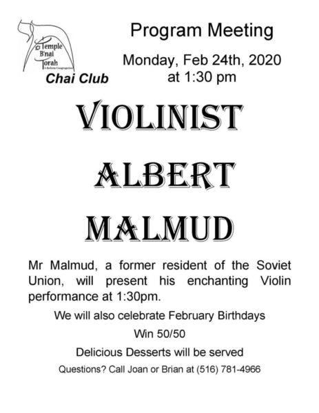 Chai Club - Albert Malmud Feb-2020 revised