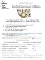 Women's Seder Flyer 2020