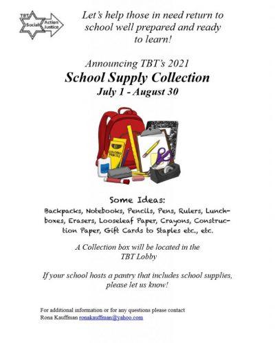2021 School Supply Collection Flyer - Rona Wasserman_1